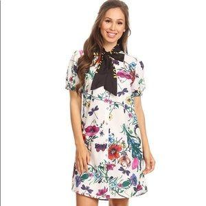 Denimland Floral Tunic Dress sz L
